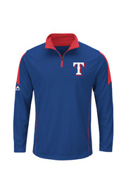 Majestic Texas Mens Blue 1/4 Zip Pullover