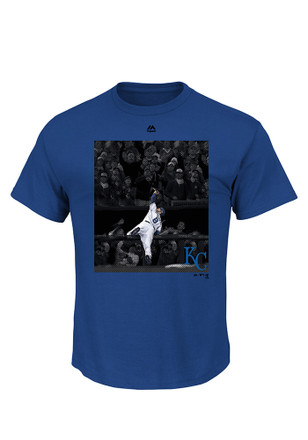Mike Moustakas KC Royals Mens Blue Fashion Player Tee