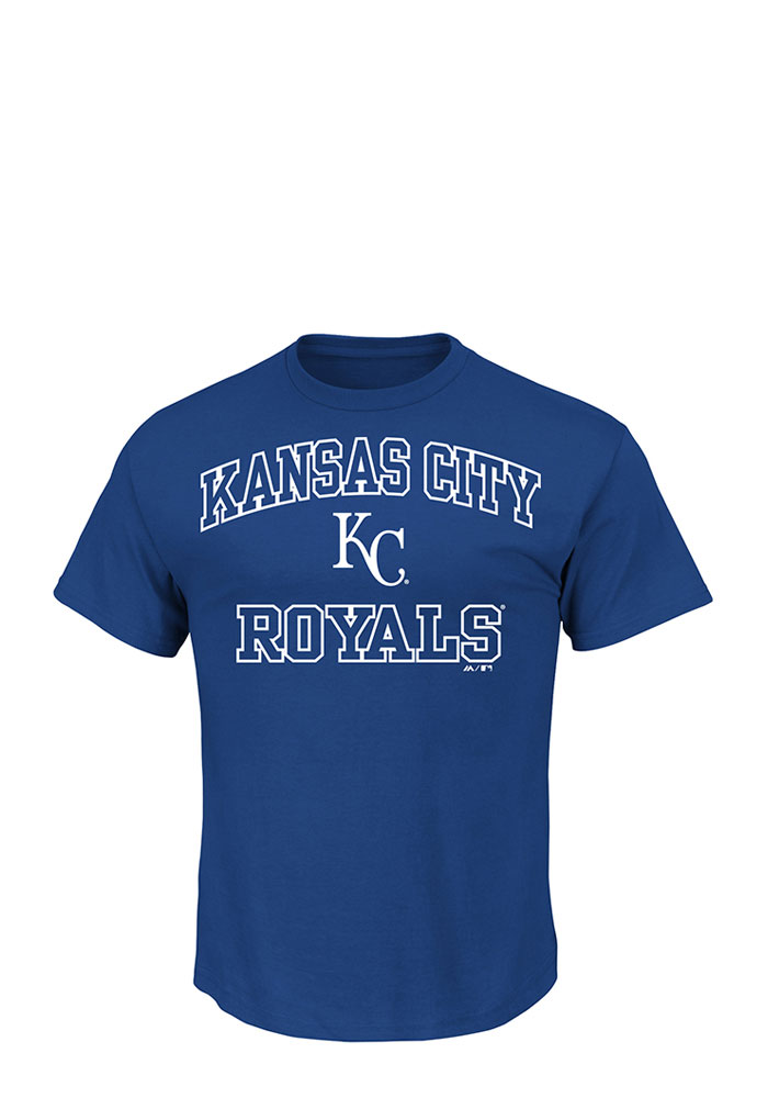 Majestic Kansas City Royals Blue Heart and Soul Short Sleeve T Shirt - Image 1