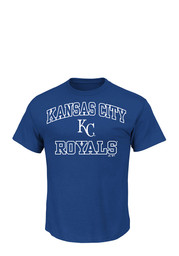 Majestic Kansas City Royals Blue Heart and Soul Tee