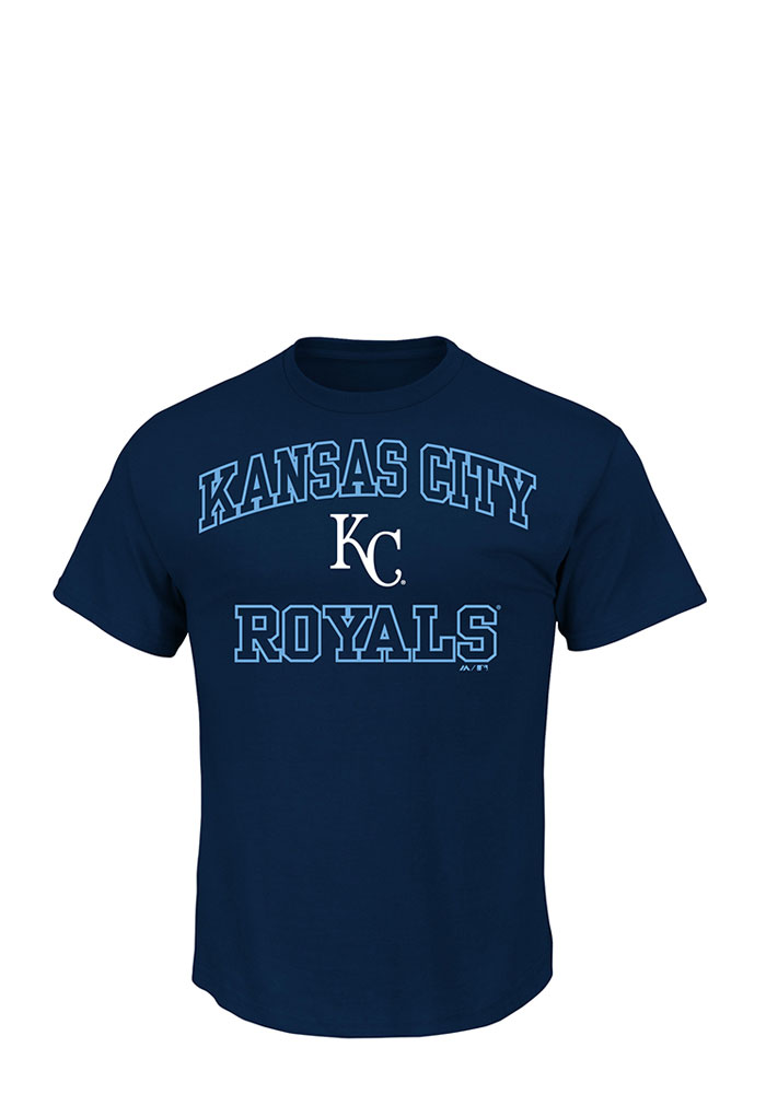 Majestic Kansas City Royals Navy Blue Heart and Soul Tee