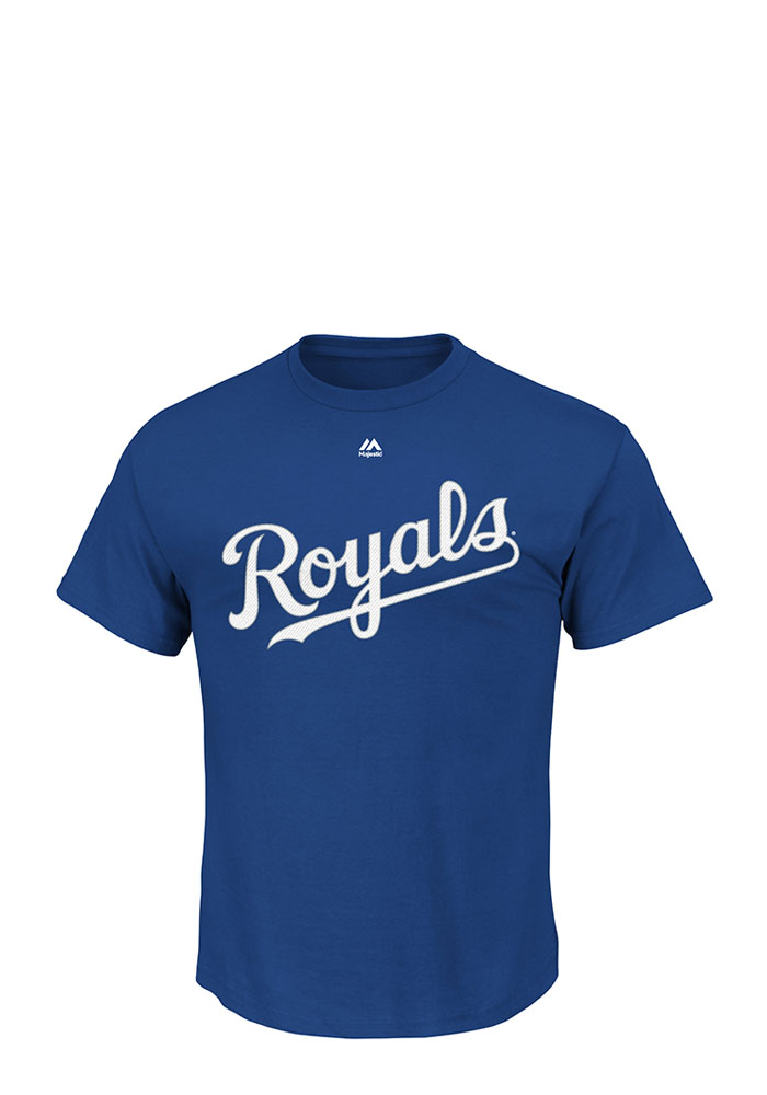Majestic Kansas City Royals Blue Triple Peak Wordmark Tee