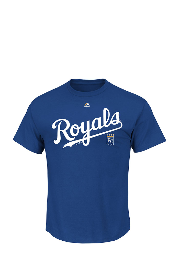 Majestic Kansas City Royals Mens Blue Series Sweep Short Sleeve T Shirt - Image 1