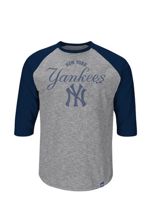 Majestic New York Yankees Mens Grey Fast Win Fashion Tee