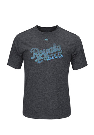 Majestic Kansas City Royals Mens Grey Out of Reach Tee