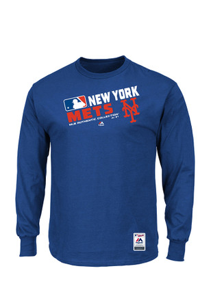 Majestic NY Mets Mens Blue T-Shirt