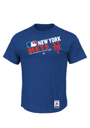 Majestic NY Mets Mens Blue Team Choice Tee