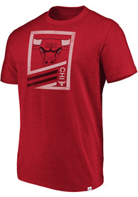 Chicago Bulls Majestic Flex Classic T Shirt - Red