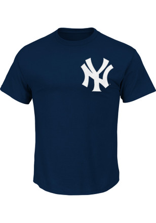 Aaron Judge New York Yankees Mens Navy Blue Name and Number Player Tee