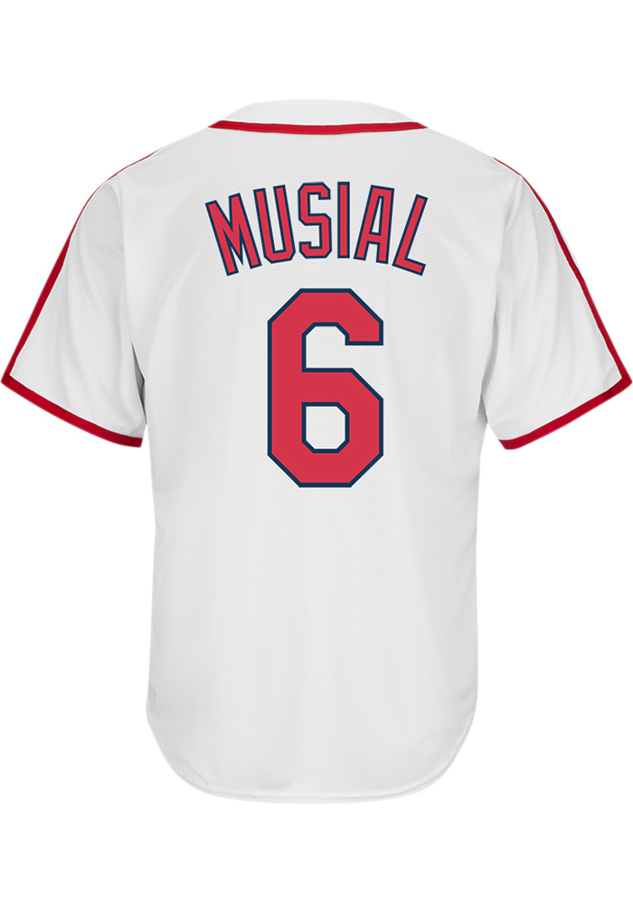7cf30c3cc Stan Musial St Louis Cardinals Mens Cooperstown Jersey - White - Image 1