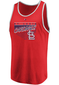 St Louis Cardinals Majestic Dreams of Victory Tank Top - Red