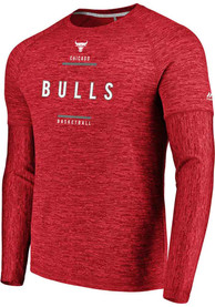 Chicago Bulls Majestic Ultra Streak T-Shirt - Red
