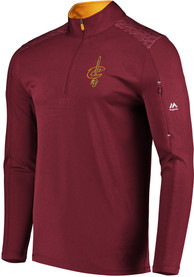 Cleveland Cavaliers Majestic Ultra Streak 1/4 Zip Pullover - Red