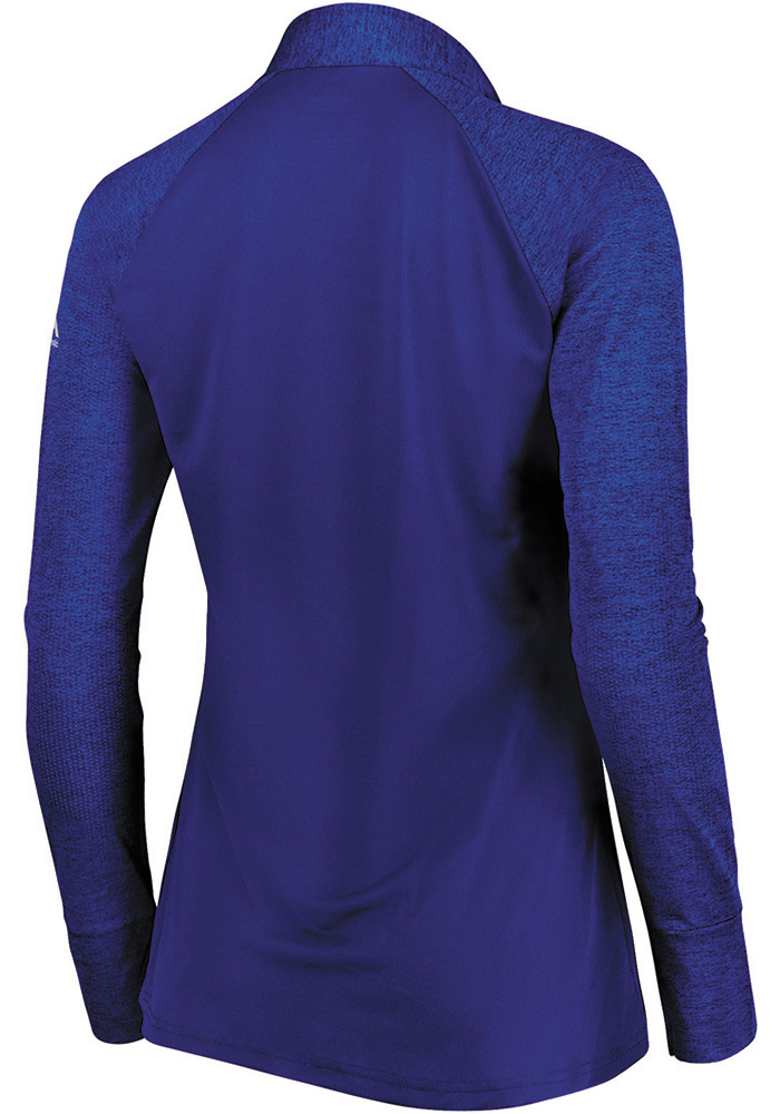 Majestic KC Royals Womens Blue Extremely Clear 1/4 Zip Pullover - Image 2