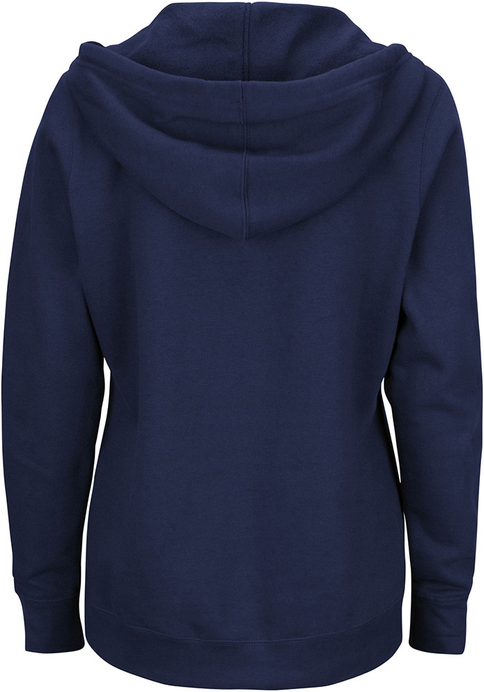 Majestic Cleveland Indians Womens Navy Blue Prepare to Dazzle Hooded Sweatshirt - Image 2
