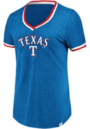 Majestic Texas Rangers Womens Blue Driven By Results V-Neck