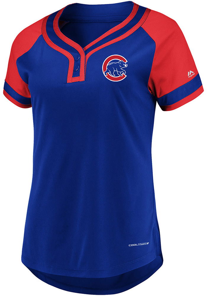 low priced cf317 a8047 Chicago Cubs Womens Majestic League Diva Fashion Baseball Jersey - Blue