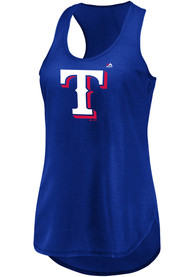 Texas Rangers Womens Majestic Quest For The Best Tank Top - Blue