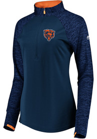 Chicago Bears Womens Ultra Streak 1/4 Zip - Navy Blue