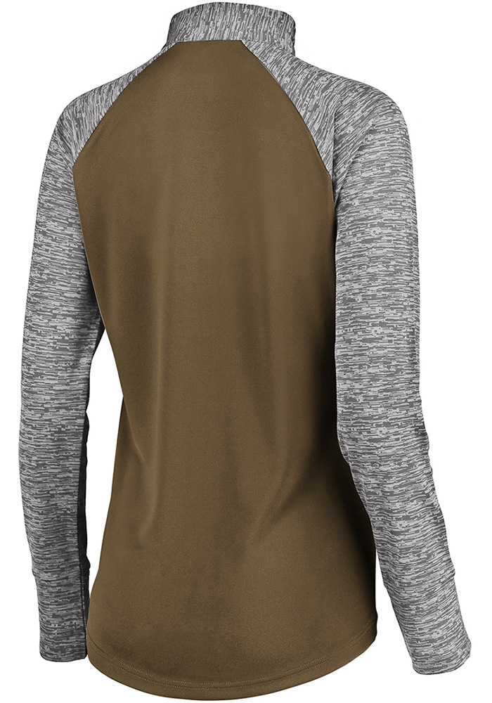 Cleveland Browns Womens Brown Ultra Streak 1/4 Zip Pullover - Image 2