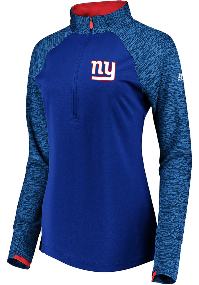 New York Womens Blue Ultra Streak 1/4 Zip Pullover - Image 1
