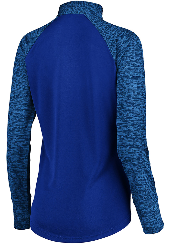 New York Womens Blue Ultra Streak 1/4 Zip Pullover - Image 2