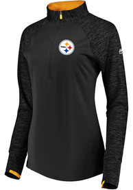 Pittsburgh Steelers Womens Ultra Streak 1/4 Zip - Black