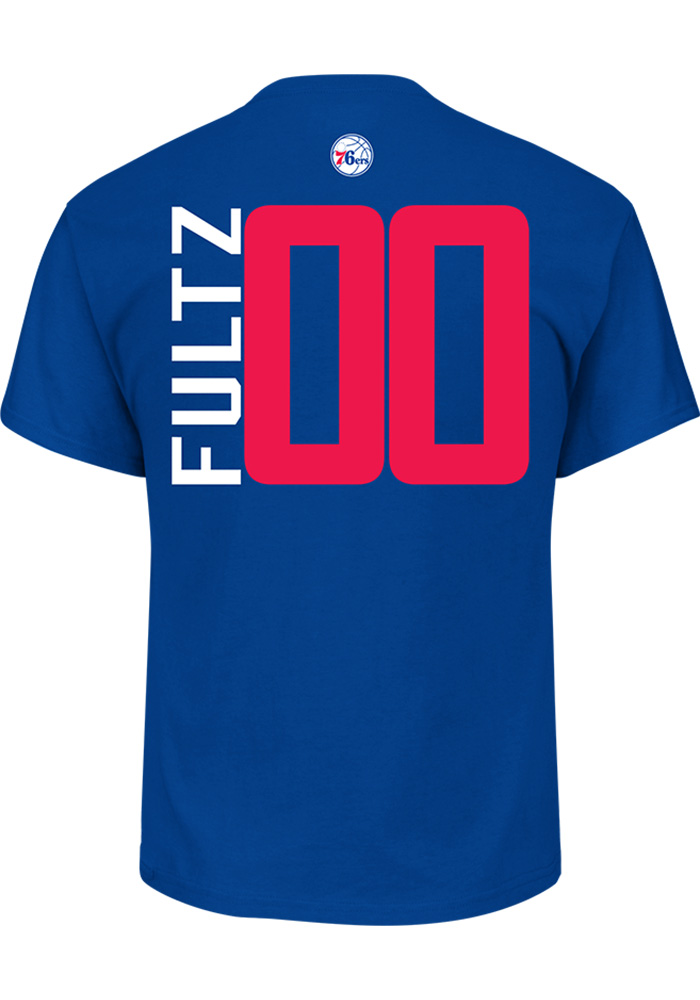Markelle Fultz Philadelphia 76ers Blue Name and Number Short Sleeve Player T Shirt - Image 1