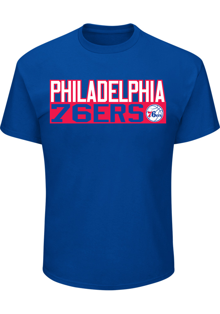 Markelle Fultz Philadelphia 76ers Blue Name and Number Short Sleeve Player T Shirt - Image 2