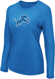Detroit Lions Womens My Team Blue LS Tee