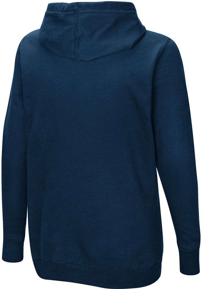 Chicago Bears Womens Navy Blue Quick Out Hooded Sweatshirt - Image 2