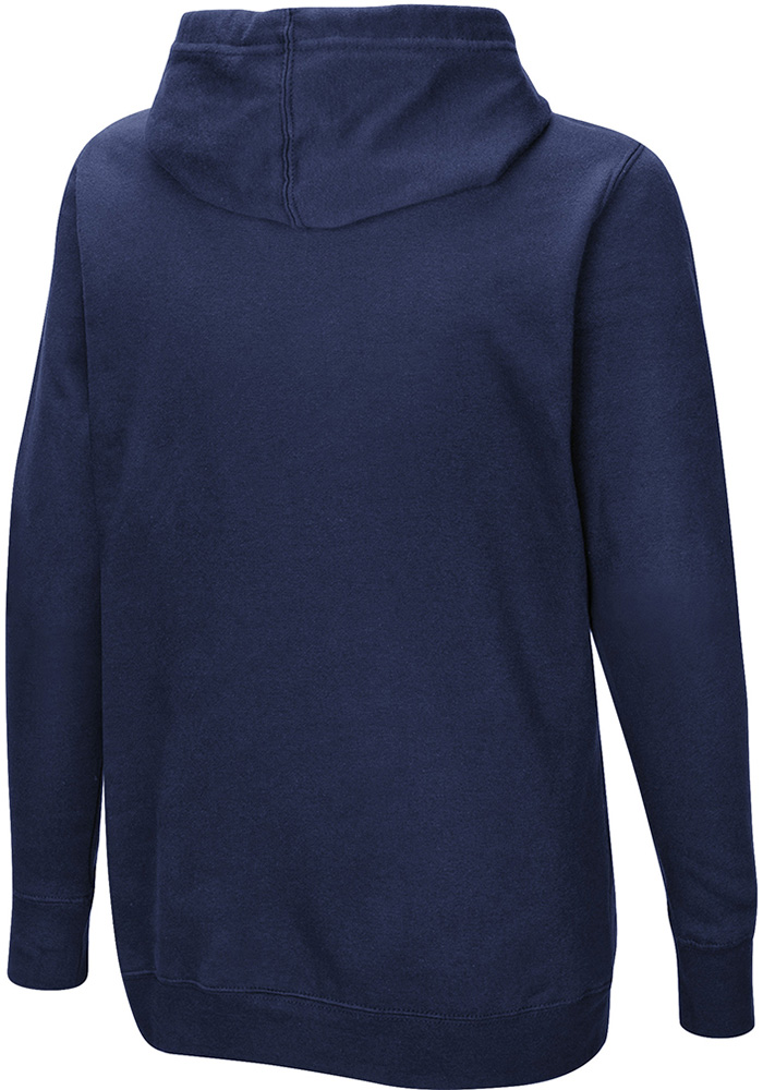 Denver Broncos Womens Navy Blue Quick Out Hooded Sweatshirt - Image 2