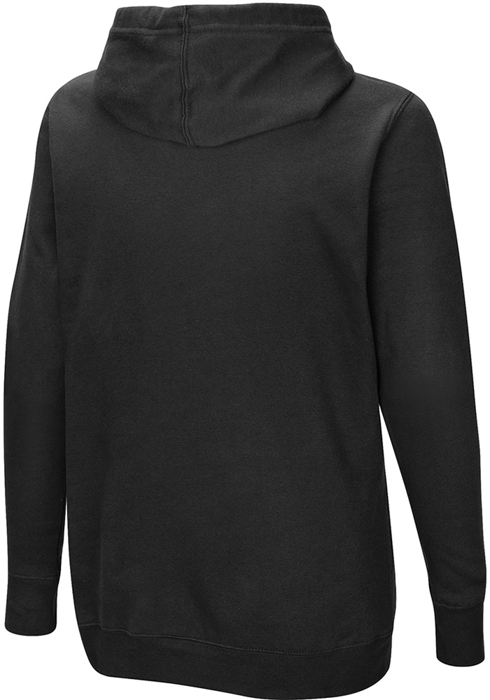 Detroit Lions Womens Black Quick Out Hooded Sweatshirt - Image 2
