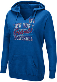 New York Giants Womens Quick Out Hooded Sweatshirt - Blue
