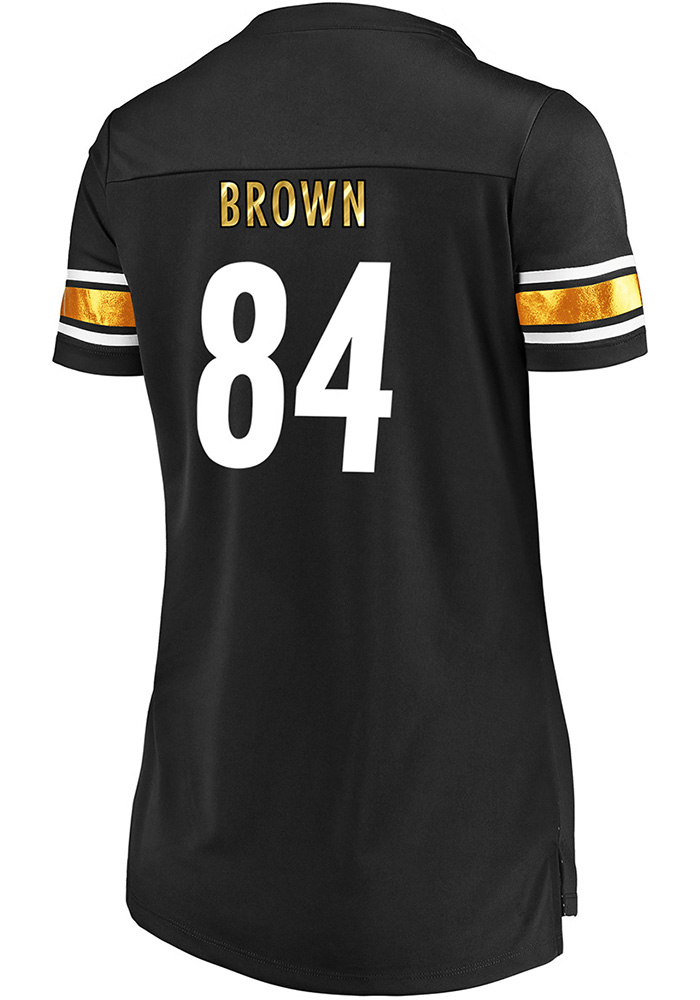c1e2095cd Antonio Brown Pittsburgh Steelers Womens Draft Him Fashion Football Jersey  - Black