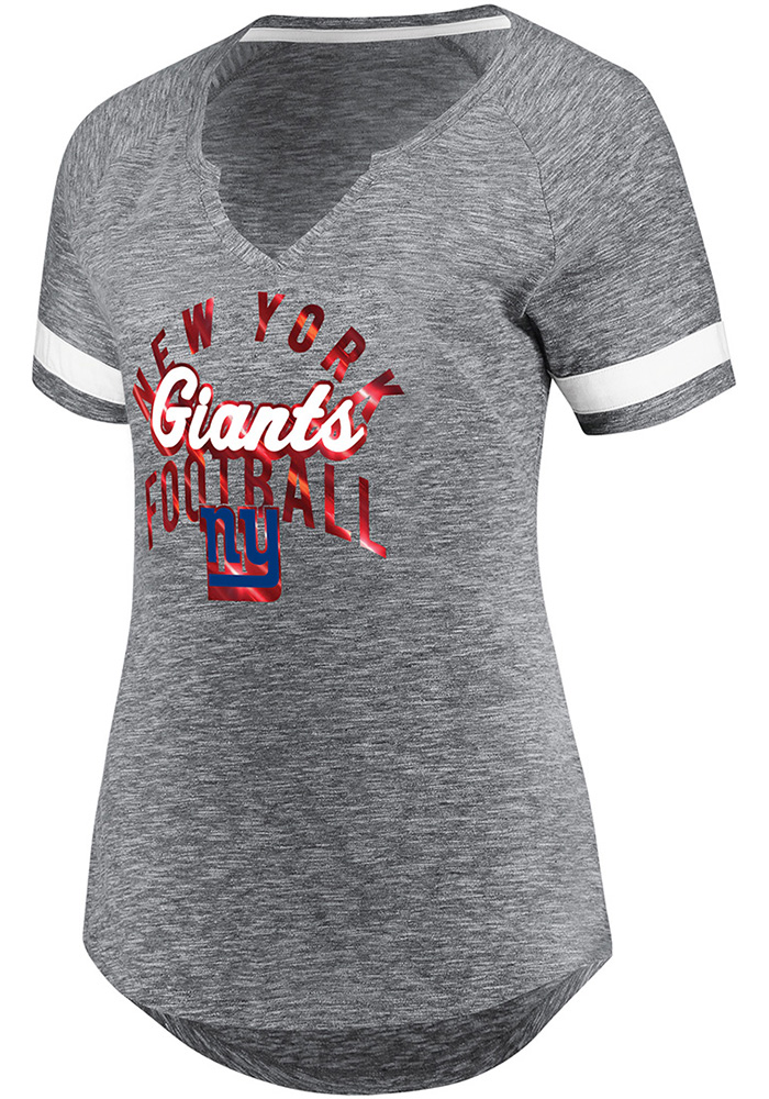 New York Giants Womens Grey Game Tradition Short Sleeve T-Shirt - Image 1