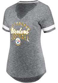 Pittsburgh Steelers Womens Grey Game Tradition T-Shirt