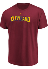 Cleveland Cavaliers Majestic Big Athletic T Shirt - Red