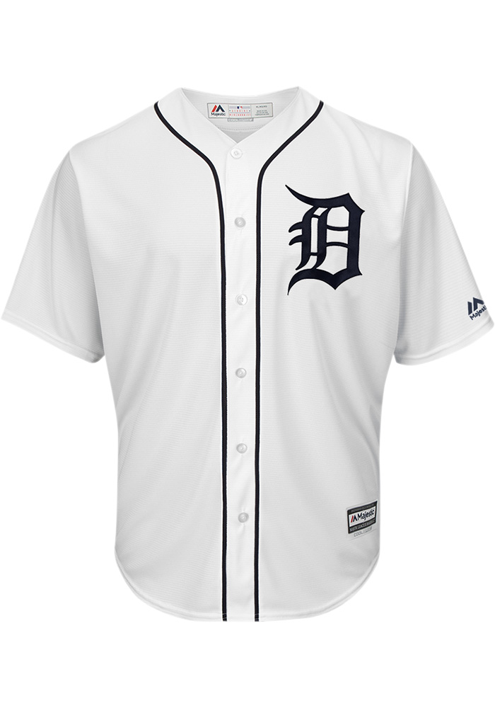 classic fit 2fc1b 554db Detroit Tigers Mens Majestic Replica 2018 Home Jersey - White