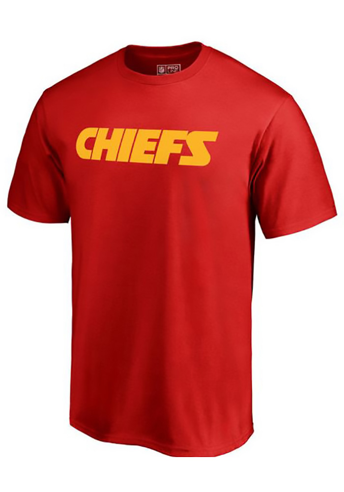 Majestic Kansas City Chiefs Red Number 1 Dad Short Sleeve T Shirt - Image 1