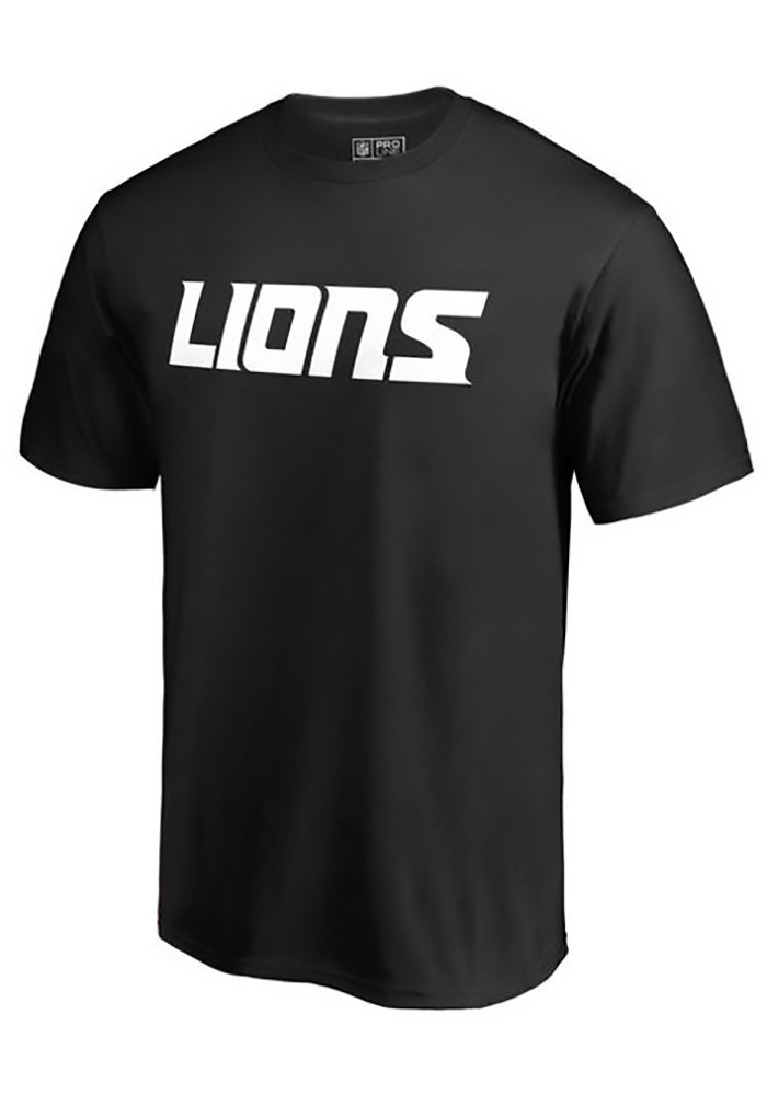 Majestic Detroit Lions Black Number 1 Dad Tee