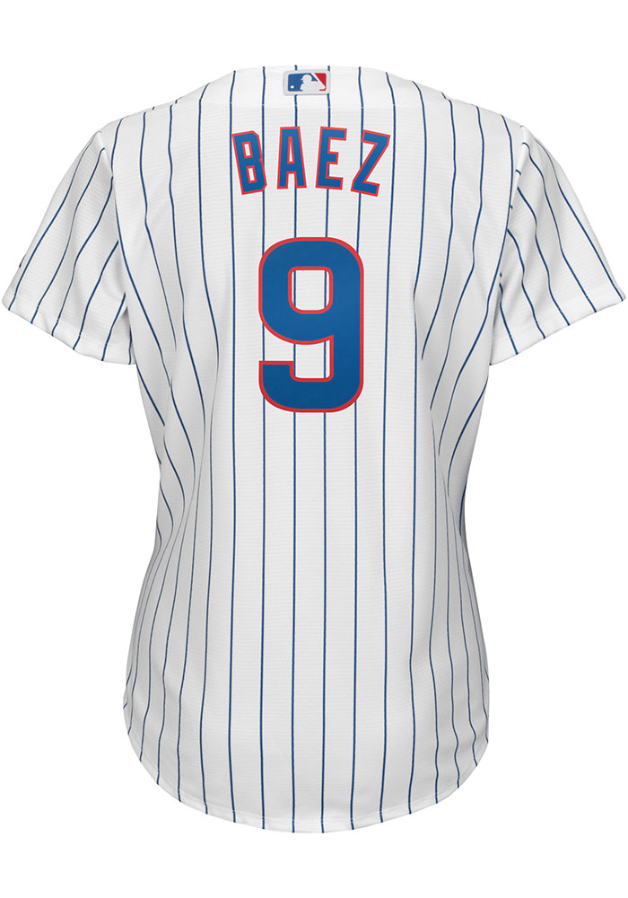 Javier Baez Chicago Cubs Womens Replica Home Jersey - White - Image 1