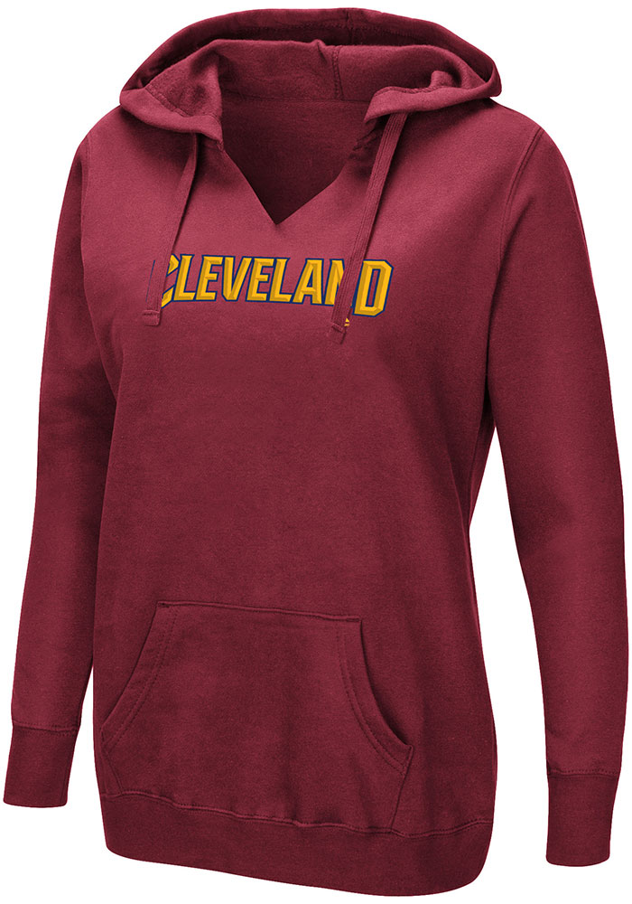 Majestic Cleveland Cavaliers Womens Maroon Done Better Hoodie