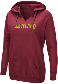 Cleveland Cavaliers Womens Majestic Done Better Hooded Sweatshirt - Maroon