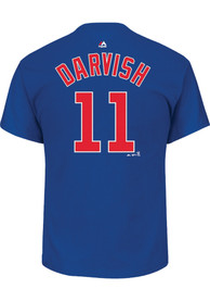 Yu Darvish Chicago Cubs Blue Name and Number Player Tee