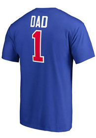 Majestic Detroit Pistons Blue Number 1 Dad Tee