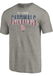 Majestic St Louis Cardinals Grey Freedom Tee