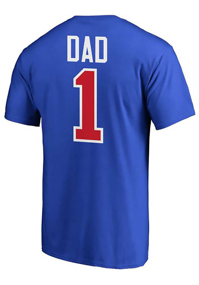 Majestic Chicago Cubs Blue Number 1 Dad Tee