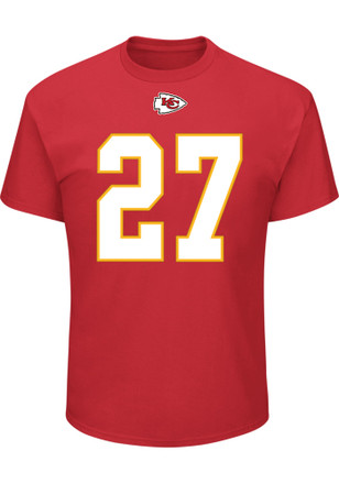 Kareem Hunt Kansas City Chiefs Mens Red Name & Number Player Tee