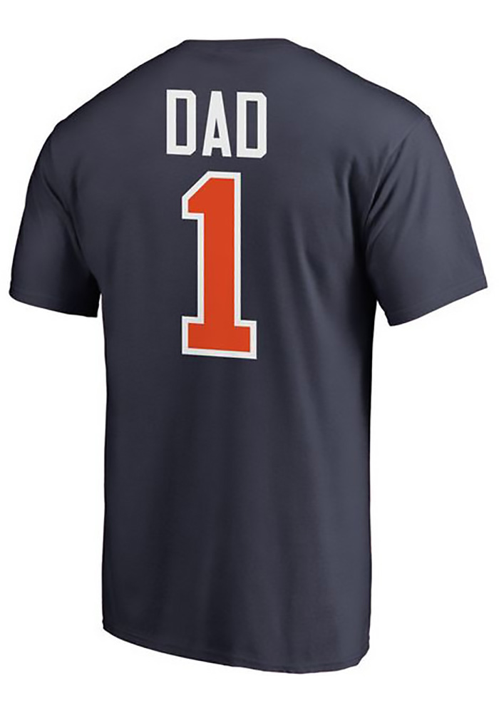 low priced 16ba0 81db7 Majestic Detroit Tigers Navy Blue Number 1 Dad Short Sleeve T Shirt